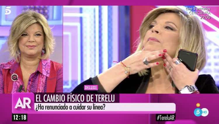 Terelu Campos valorando la posibilidad de operarse / Telecinco.es