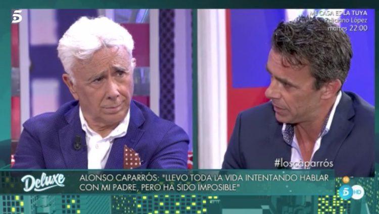 Alonso Caparrós y su padre en 'Sálvame Deluxe'
