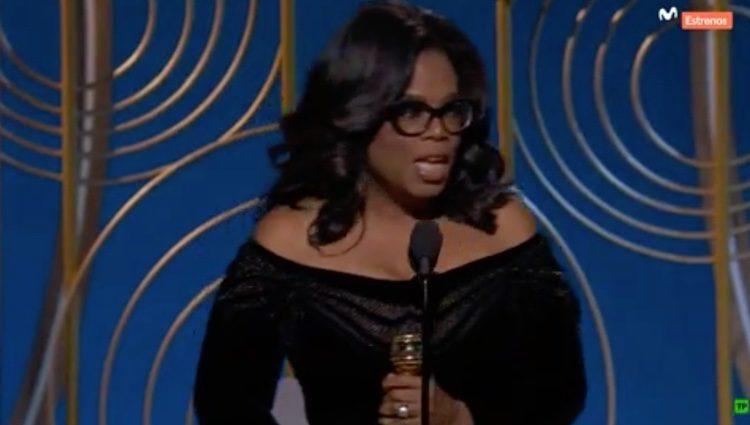 Oprah Winfrey dando el discurso / Foto: Twitter