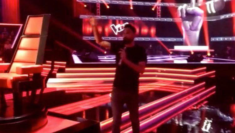 David Morales trabajando en 'La Voz' / Foto: telecinco.es