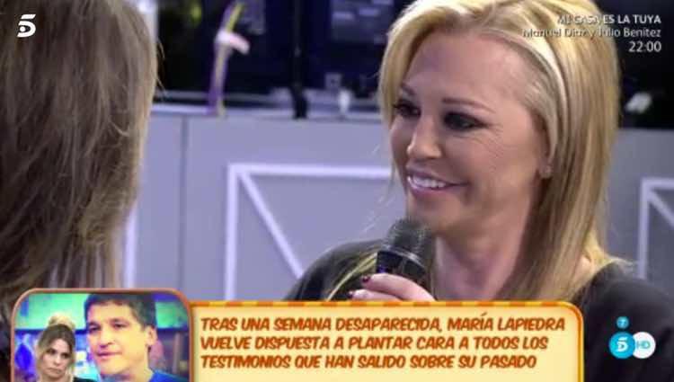 Belén Esteban hablando de su vuelta en 'Sálvame' / Telecinco.es