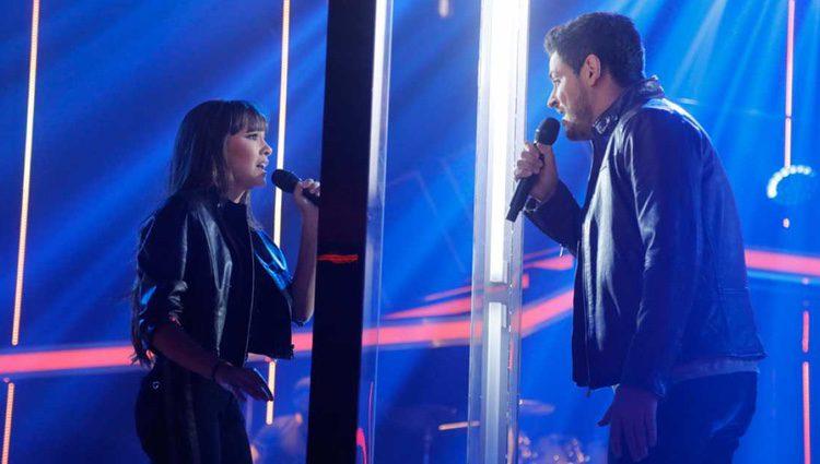 Aitana y Cepeda en su actuación 'No puedo vivir sin ti' / Foto: rtve.es