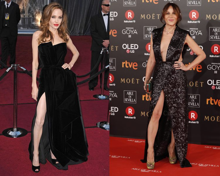 Angelina Jolie y Antonia San Juan presumiendo de pierna