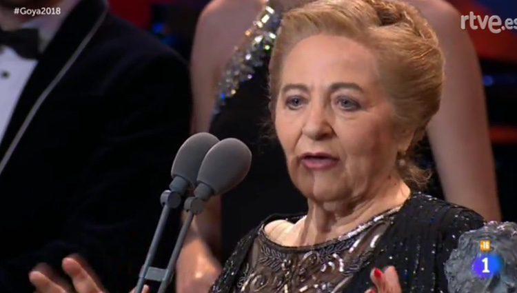 La madre de Gustavo Salmerón en su discurso