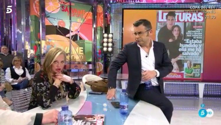 Belén Esteban comentando la entrevista de Diego Matamoros en Lecturas