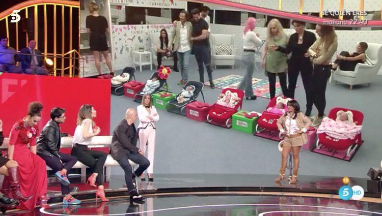 Nagore Robles enfrentándose a Aída Nizar en el plató del debate de 'GH VIP5'