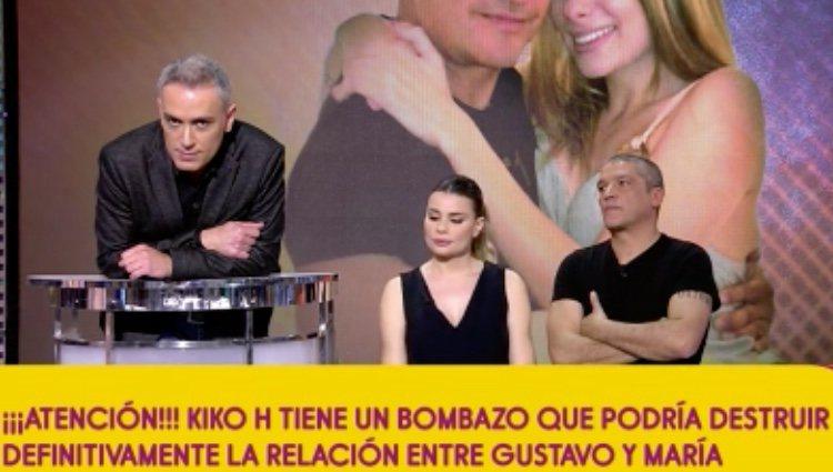 Kiko Hernández dando la noticia de la posible entrevista de la exmujer de González/Foto: Telecinco