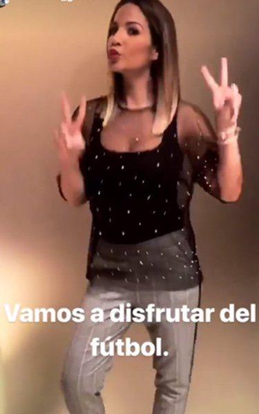 Tamara Gorro, animada para ver el partido/ Fuente: Instagram