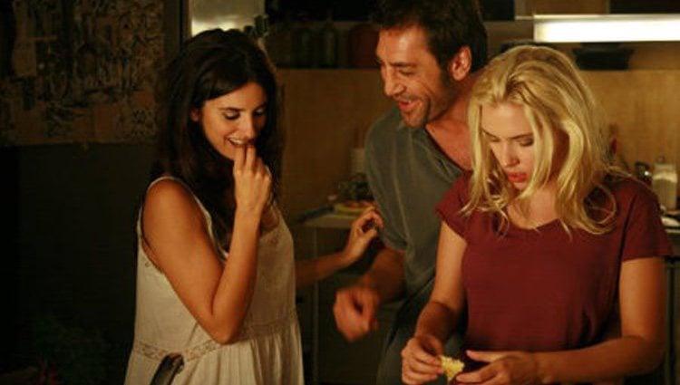 Penélope Cruz, Javier Bardem y Scarlett Johansson en 'Vicky Cristina Barcelona'