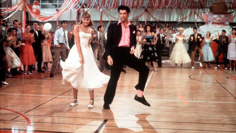 Escena de 'Grease', protagonizada por John Travolta y Olivia Newton-John