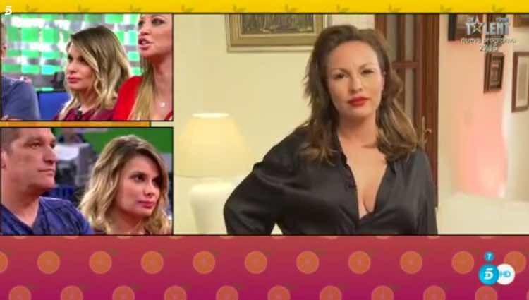 Gustvo González y María Lapiedra viendo el mensaje de Tamara / Telecinco.es