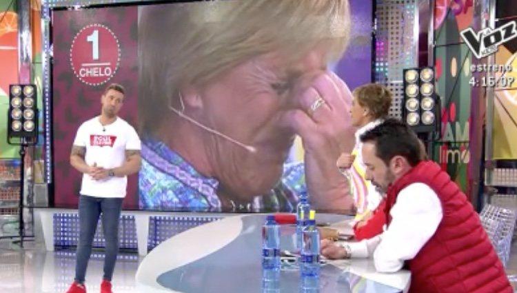 Rafa Mora contra Chelo García-Cortés y Jesús Manuel/Foto: Telecinco
