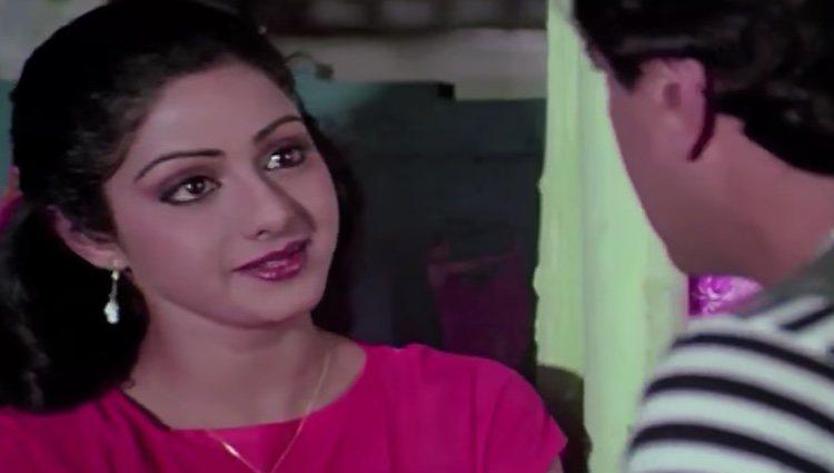 Sridevi Kapoor, en una escena del filme 'Mawaali' (1983)