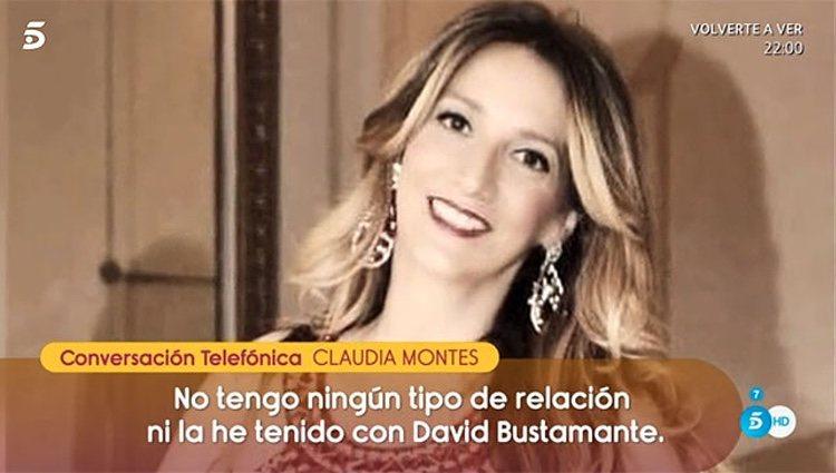 Claudia Montes niega su relación con Bustamante en 'Sálvame'/ Fuente: telecinco.es