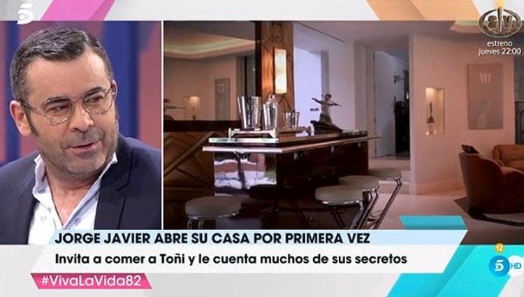Jorge Javier Vázquez muestra el interior de su casa / Foto: telecinco.es