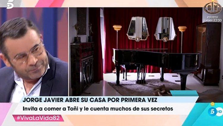 El piano de la casa de Jorge Javier Vázquez / Foto: telecinco.es