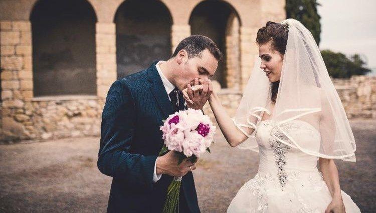 Diana y Franchu en su boda / Redes