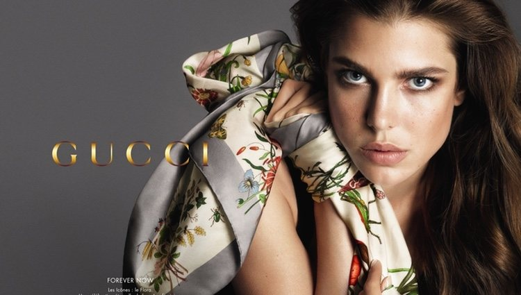 Carlota Casiraghi como imagen de Gucci
