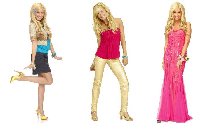 Ashley Tisdale como Sharpay Evans en las distintas entregas de 'High School Musical