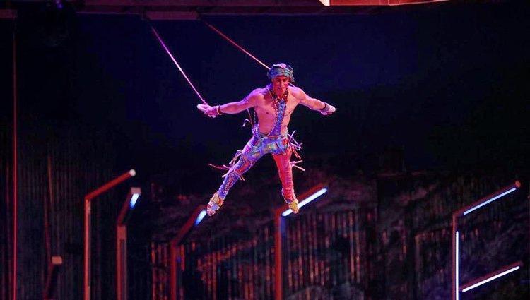 Yann Arnaud, durante un espectáculo en el Cirque du Soleil