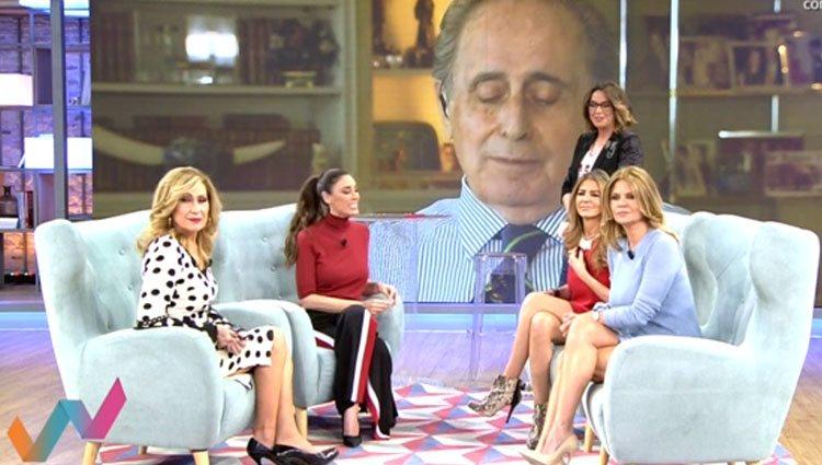 Jaime Peñafiel conecta en directo con el programa 'Viva la vida'. Foto: Mediaset
