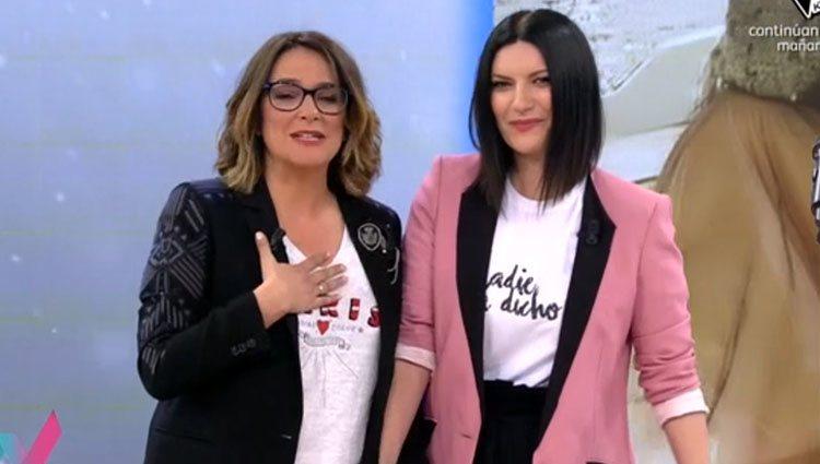 Laura Pausini visita 'Viva la vida' Foto: Mediaset