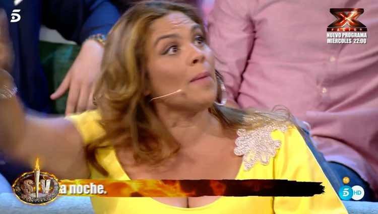 Saray Montoya cargando contra Fernando Marcos / Telecinco.es