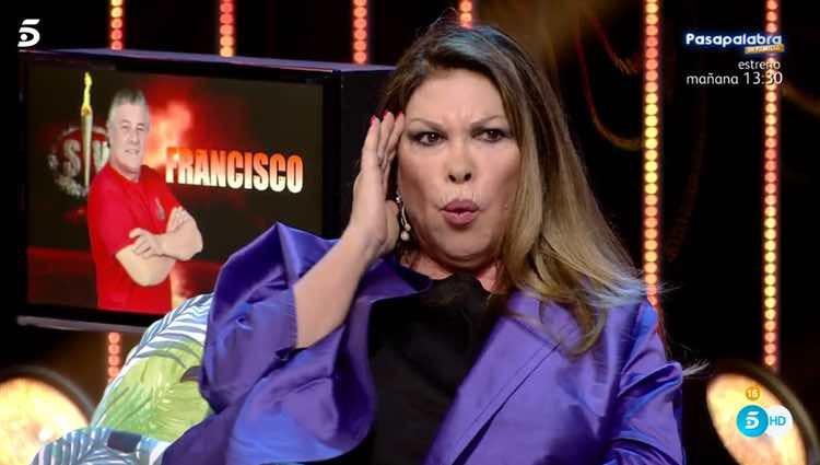 Paca escuchando lo que María Lapiedra dice de su marido / Telecinco.es