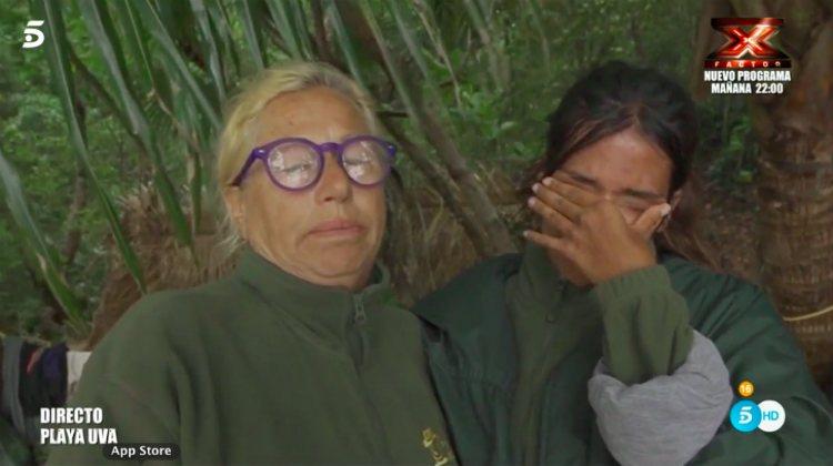 Mayte y Melissa, muy afectadas tras el temporal y la evacuación   telecinco.es