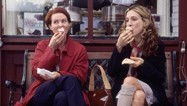 Sarah Jessica Parker y Cynthia Nixon en capítulo de 'Sexon en Nueva York'