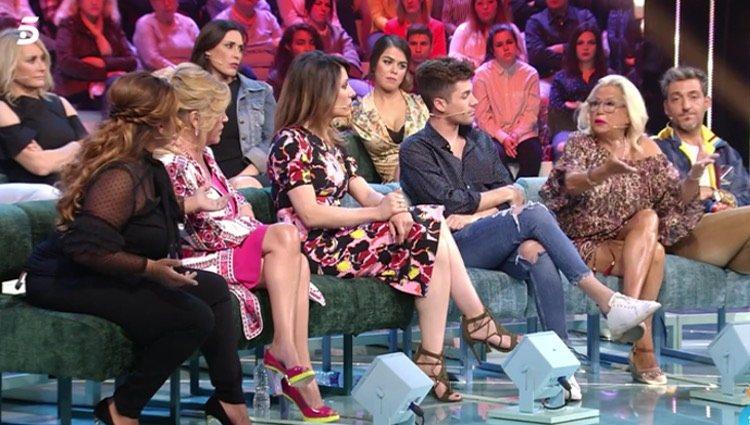 Saray Montoya y Mayte Zaldívar protagonizan la bronca de la noche/Foto: Telecinco