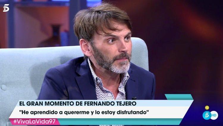 Fernando Tejero, durante su entrevista en 'Viva la vida' / Telecinco.es