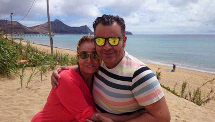 Mila Ximénez y Jorge Javier de vacaciones: Foto: Instagram