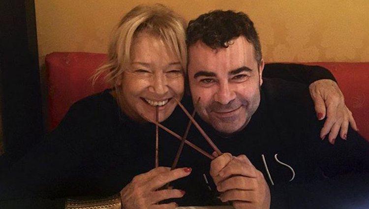 Mila Ximénez y Jorge Javier de cena Foto: Instagram