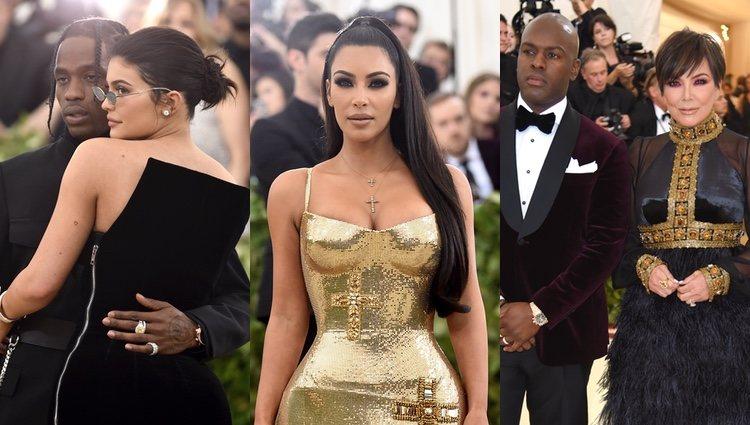 Kylie Jenner y Travis Scott, Kim Kardashian y Kris Jenner con su novio en la alfombra roja de la MET Gala 2018