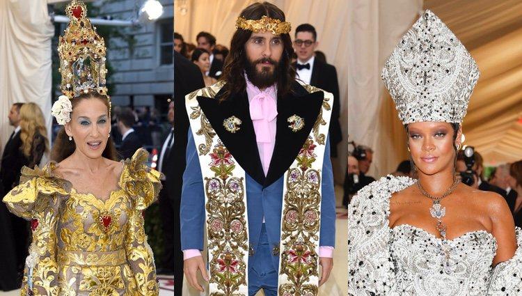 Sarah Jessica Parker, Jared Leto y Rihanna se tomaron la temática muy a pecho en la alfombra roja de la MET Gala 2018