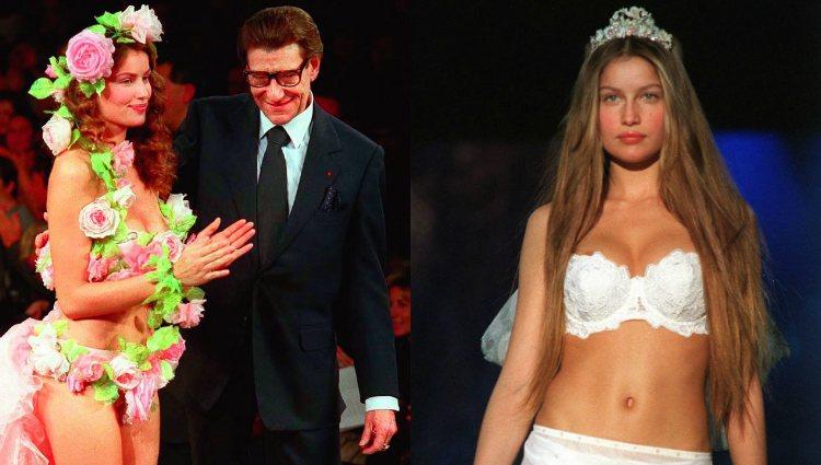 Laetitia Casta junto a Yves Saint Lauren y desfilando para Victoria's Secret | Gtres