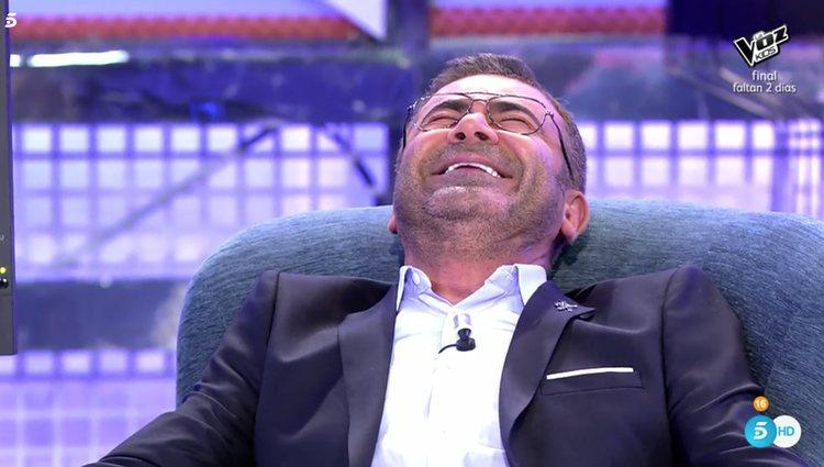 Jorge Javier se delató en muchas preguntas por no aguantar la risa / Fuente: telecinco.es