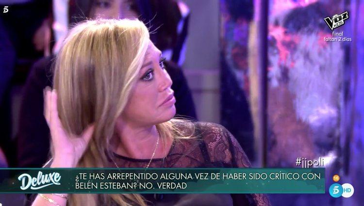 Belén Esteban no pudo aguantar las lágrimas / Fuente: telecinco.es
