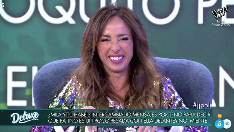 María Patiño no se sintió ofendida por la pregunta / Telecinco.es