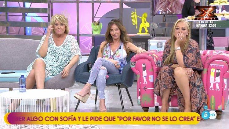 Mila Ximénez, María Patiño y Belén Esteban en 'Sálvame' / Telecinco.es