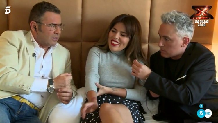 Jorge Javier Vázquez y Kiko Hernández con Chabelita | Foto: Telecinco.es