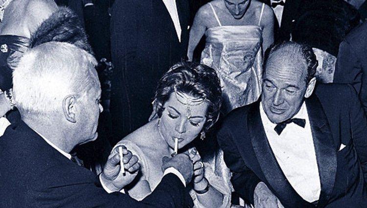 Sara Montiel junto a su primer marido, Anthony Mann