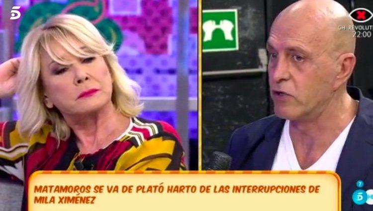 Mila Ximénez y Kiko Matamoros durante su discusión / Foto: telecinco.es