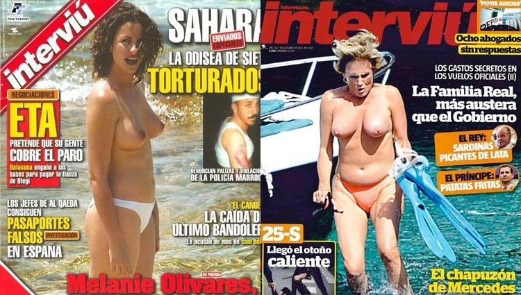 Melani Olivares y Mercedes Milá en topless / Interviú