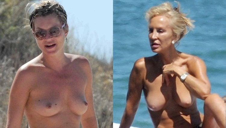 Kate Moss y Carmen Lomana en topless