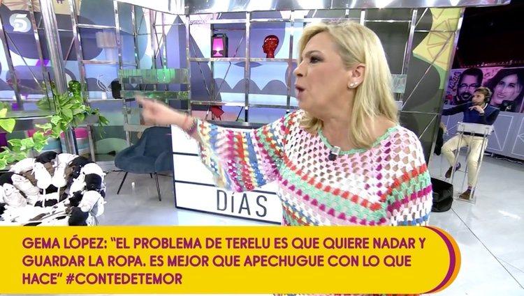 Carmen Borrego sacando la cara por su hermana / Telecinco.es