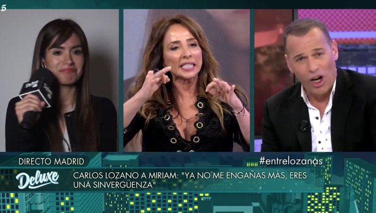María Patiño tuvo que cortar el discurso de Saavedra / Foto: Telecinco.es