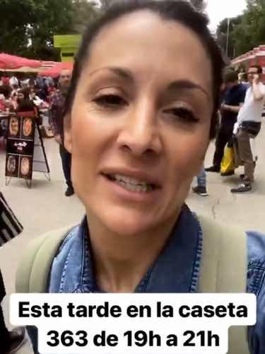 Nagore Robles llegando a la Feria del Libro / Instagram