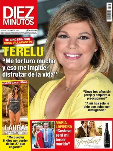 Terelu Campos en la portada de la Revista Hola